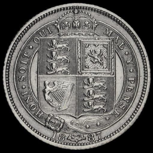 1887 VictoriaJubilee Head Sixpence Reverse