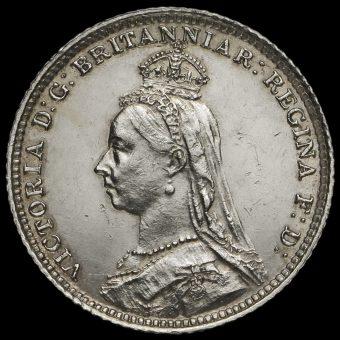 1888 Queen Victoria Jubilee Head Silver Groat Obverse