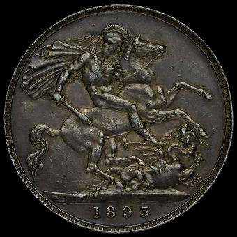 1893 Queen Victoria Veiled Head Silver LVI Crown Reverse