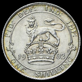 1902 Edward VII Silver Shilling Reverse
