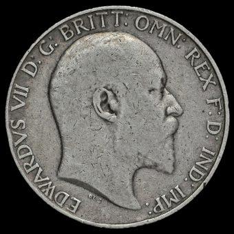 1905 Edward VII Silver Florin Obverse