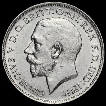 1914 George V Silver Florin Obverse