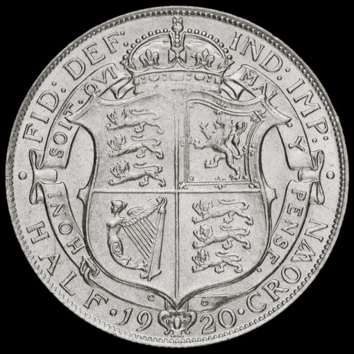 1920 George V Silver Half Crown Reverse