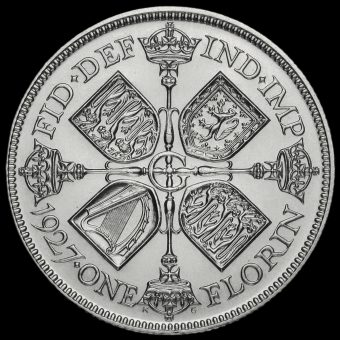 1927 George V Silver Proof Florin Reverse