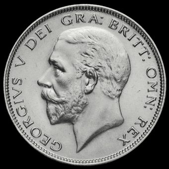 1928 George V Silver Half Crown Obverse