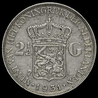 Netherlands 1931 2 1/2 Gulden Reverse