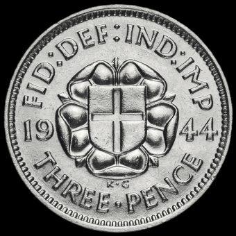 1944 George VI Silver Threepence Reverse