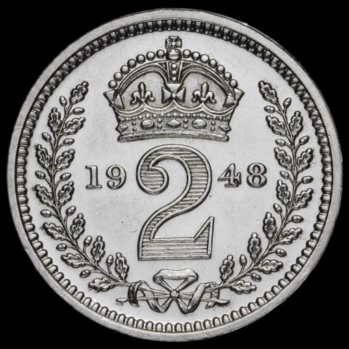 1948 George VI Silver Maundy Twopence Reverse