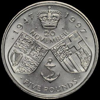 1997 Queen Elizabeth Golden Wedding £5 Crown Reverse