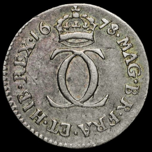 1678/6 Charles II Early Milled Silver Maundy Twopence Reverse