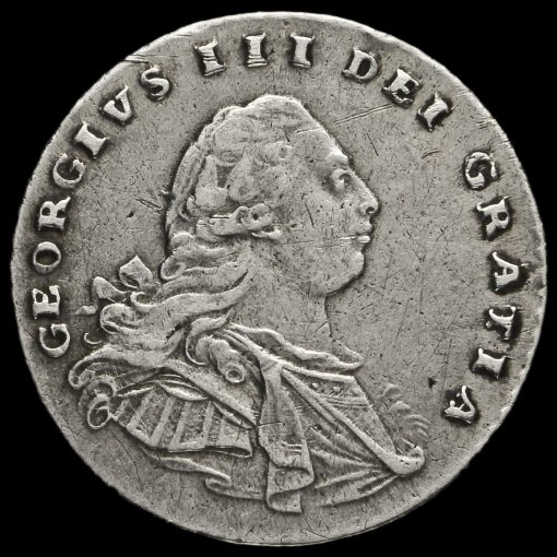 1792 George III Early Milled Silver Maundy Penny Obverse