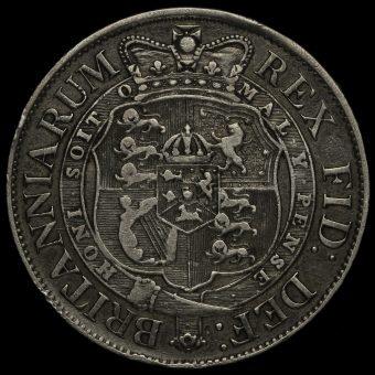 1818 George III Milled Silver Half Crown Reverse
