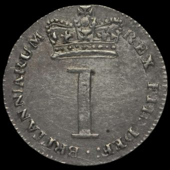 1818 George III Milled Silver Maundy Penny Reverse