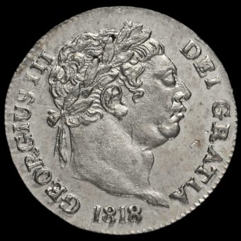 1818 George III Milled Silver Maundy Penny Obverse