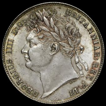 1820 George IV Milled Silver Half Crown Obverse