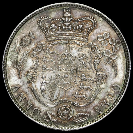 1820 George IV Milled Silver Half Crown Reverse