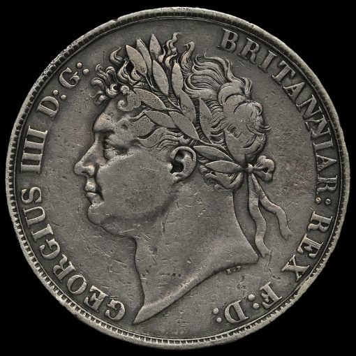 1822 George IV Milled Silver Tertio Crown Obverse