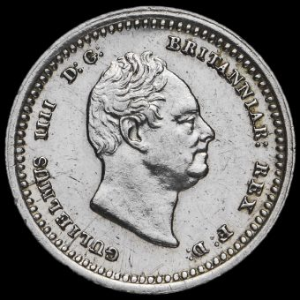 1836 William IV Milled Silver Maundy Twopence Obverse