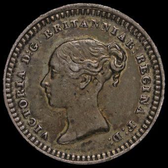 1842 Queen Victoria Young Head Silver Three-Halfpence Obverse