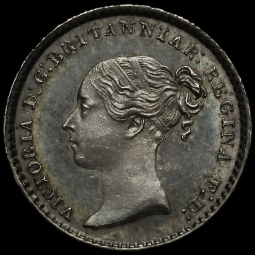 1854 Queen Victoria Young Head Silver Maundy Penny Obverse