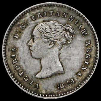 1868 Queen Victoria Young Head Silver Maundy Twopence Obverse