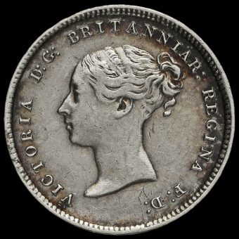 1870 Queen Victoria Young Head Silver Maundy Fourpence Obverse