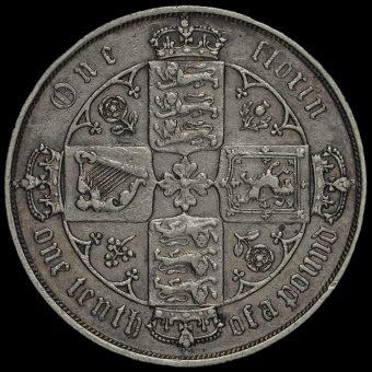 1881 Queen Victoria Gothic Florin Reverse