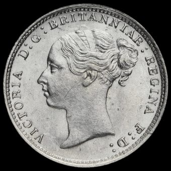1883 Queen Victoria Young Head Silver Threepence Obverse