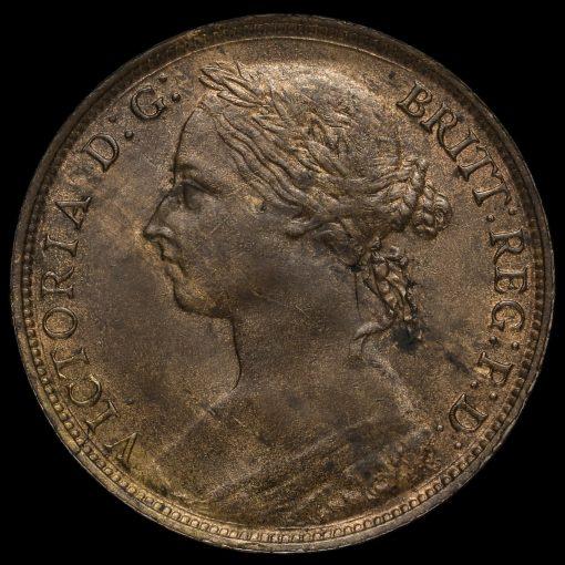 1884 Queen Victoria Bun Head Penny Obverse