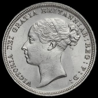 1885 Queen Victoria Young Head Silver Sixpence Obverse