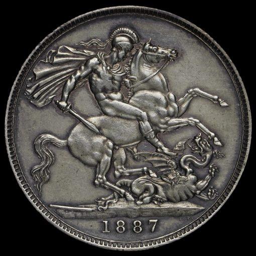 1887 Queen Victoria Jubilee Head Silver Crown Reverse