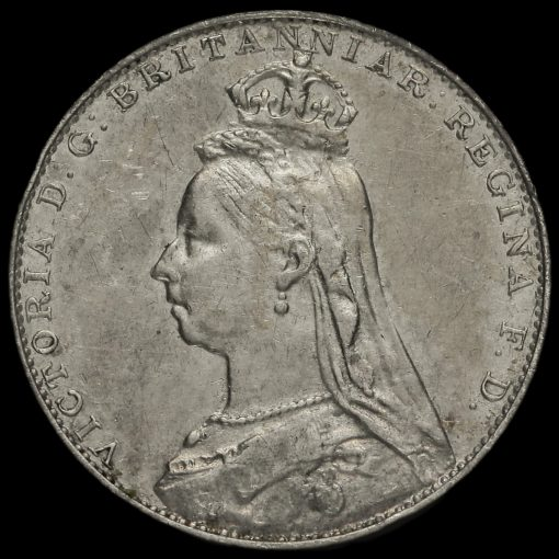 1889 Queen Victoria Jubilee Head Silver Maundy Fourpence Obverse
