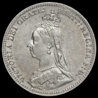 1892 Queen Victoria Jubilee Head Silver Threepence Obverse