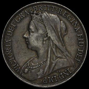 1893 Queen Victoria Veiled Head LVII Crown Obverse