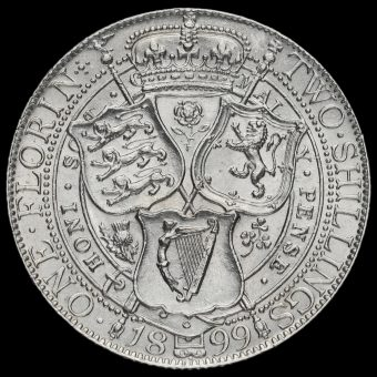1899 Queen Victoria Veiled Head Silver Florin Reverse