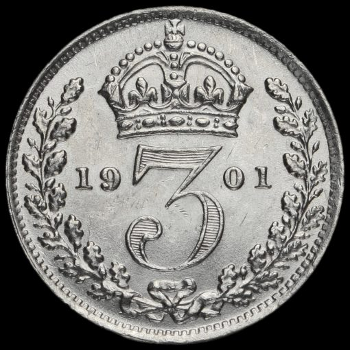 1901 Queen Victoria Silver Threepence Reverse