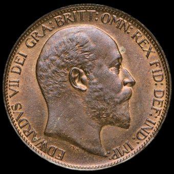 1904 Edward VII Halfpenny Obverse