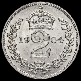1904 Edward VII Silver Maundy Twopence Reverse