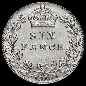 1910 Edward VII Silver Sixpence Reverse
