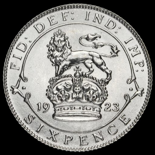 1923 George V Silver Sixpence Reverse