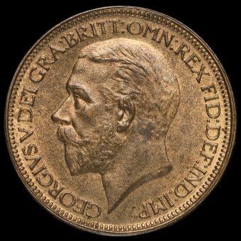 1927 George V Halfpenny Obverse