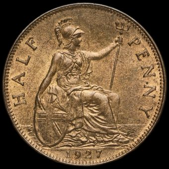 1927 George V Halfpenny Reverse