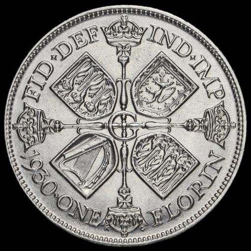 1930 George V Silver Florin Reverse