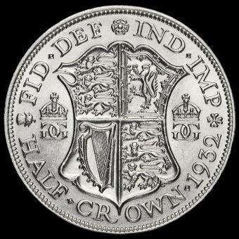 1932 George V Silver Half Crown Reverse
