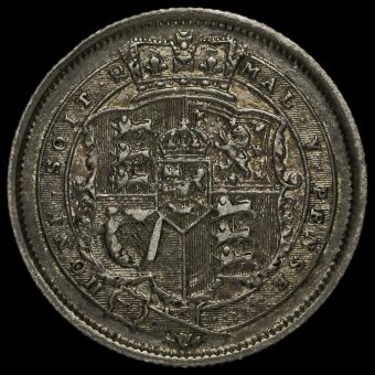 1817 George III Milled Silver Shilling Reverse