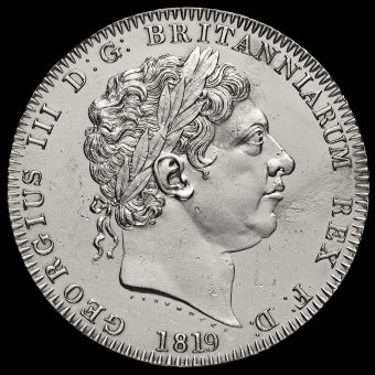 1819 George III Milled Silver LX Crown Obverse