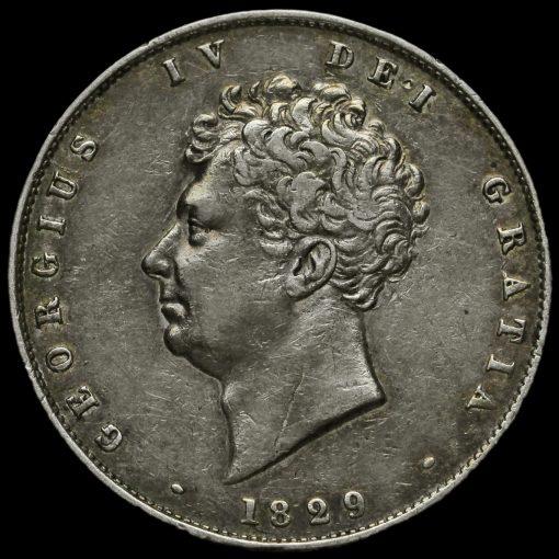 1829 George IV Milled Silver Half Crown Obverse