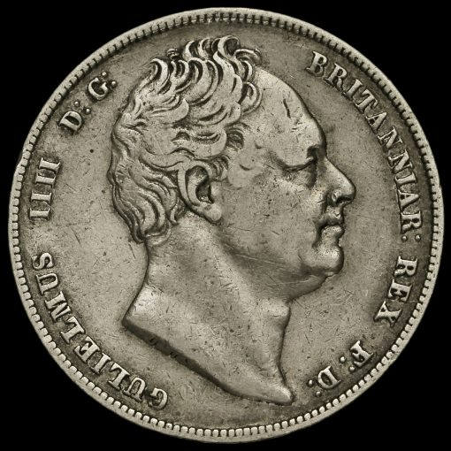 1837 William IV Milled Silver Half Crown Obverse