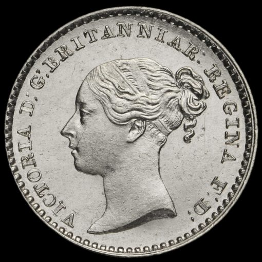 1839 Queen Victoria Young Head Silver Maundy Penny Obverse