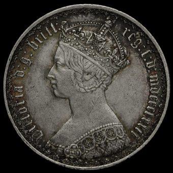 1872 Queen Victoria Gothic Florin Obverse